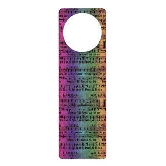 Viejo diseño del papel del arco iris de la partitu colgantes para puertas