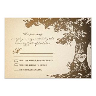 viejo diseño del rsvp del boda del vintage del invitaciones personalizada
