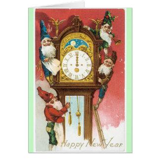 Viejo diseño del vintage de la tarjeta de los Años
