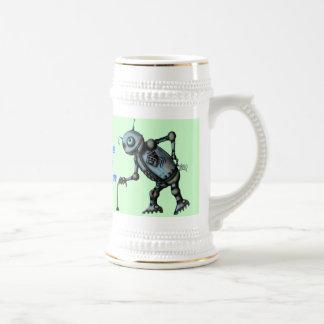 Viejo diseño divertido de la taza de cerveza del