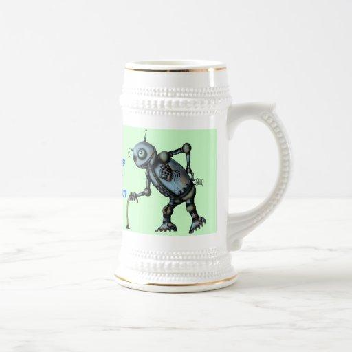 Viejo diseño divertido de la taza de cerveza del r