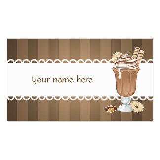 Viejo diseño fashoined lindo del milkshake del cho tarjetas de visita