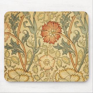 Viejo diseño floral antiguo mouse pads