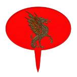 Viejo diseño medieval del dragón de YE Figura Para Tarta