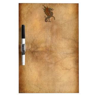 Viejo diseño medieval del dragón de YE Pizarras Blancas