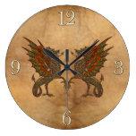 Viejo diseño medieval del dragón de YE Relojes De Pared