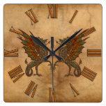 Viejo diseño medieval del dragón de YE Reloj