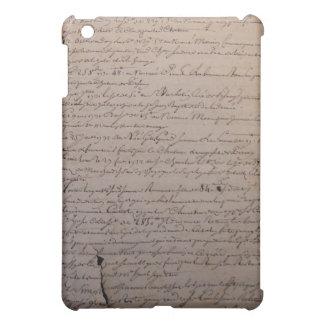 Viejo documento francés rasgado y hecho andrajos