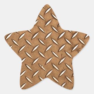 Viejo efecto de cobre amarillo del metal de la calcomanía forma de estrella personalizadas