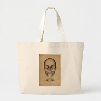 Viejo ejemplo del cráneo bolsas de mano