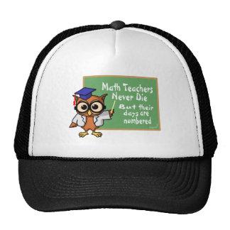 Viejo epitafio de los profesores de matemáticas gorras
