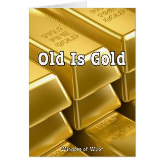Viejo es el oro tarjetón