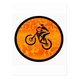 Viejo escolar de la bici postales