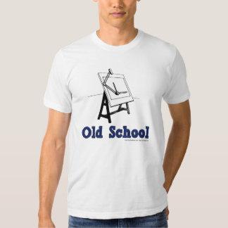 Viejo-Escuela-Elaborar-Tablero-azul Remera