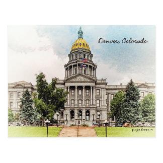 Viejo estilo, edificio del capitolio del estado de tarjetas postales