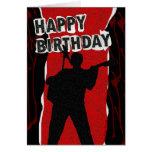 Viejo estilo punky del feliz cumpleaños tarjeta de felicitación
