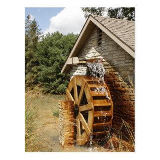Viejo estilo Watermill Postal