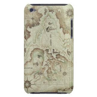 Viejo estuche rígido de Mapamundi para el tacto de iPod Case-Mate Cárcasas