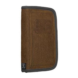 Viejo falso cuero-límite marrón, libro antiguo ret planificadores