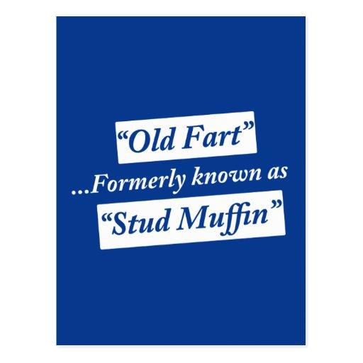 Viejo Fart conocido antes como mollete del perno Tarjeta Postal