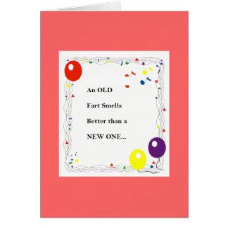 Viejo Fart la tarjeta de cumpleaños