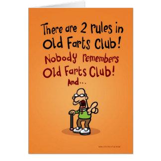 Viejo Farts el club Tarjeta De Felicitación