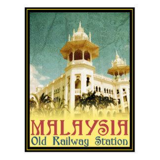 Viejo ferrocarril de Malasia Tarjetas Postales