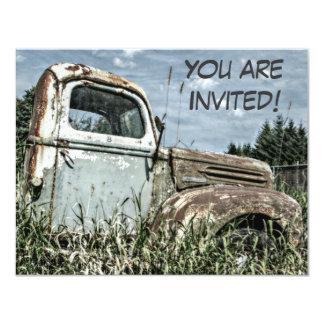 Viejo fiesta de retiro del camión o cumpleaños del invitación 10,8 x 13,9 cm