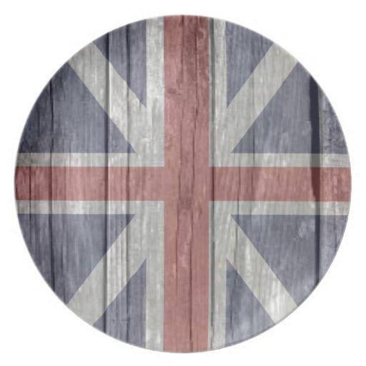 Viejo flash británico BRITÁNICO descolorado de mad Plato