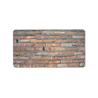 Viejo fondo de la pared de ladrillo del Grunge Etiqueta De Dirección