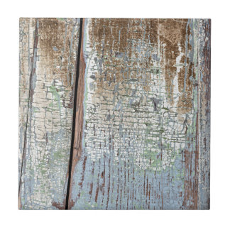 Viejo fondo de madera apenado pintado azulejo cuadrado pequeño