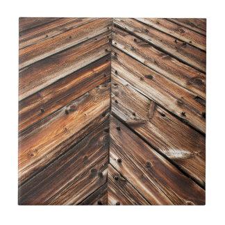 Viejo fondo de madera del granero azulejo cuadrado pequeño