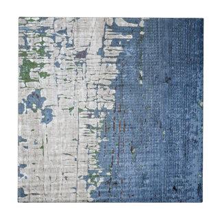 Viejo fondo de madera pintado azulejo cuadrado pequeño