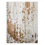 Viejo fondo de madera pintado cuadernos