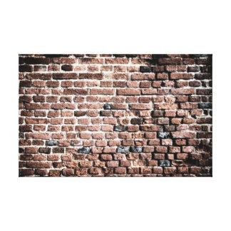 Viejo fondo del grunge de la pared de ladrillo impresion de lienzo