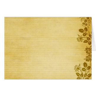 Viejo fondo del papel de nota tarjeton