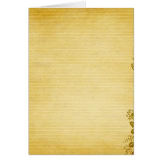 Viejo fondo del papel de nota felicitacion