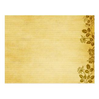 Viejo fondo del papel de nota tarjeta postal