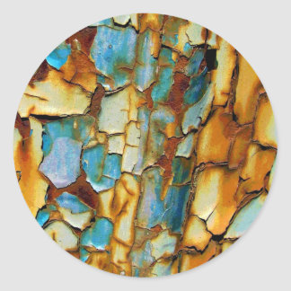 Viejo fondo oxidado pegatinas redondas