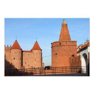 Viejo fortalecimiento de la ciudad de Varsovia Fotografía