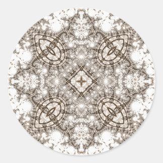 Viejo fractal 13 del cordón pegatina redonda
