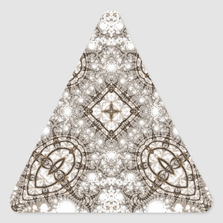 Viejo fractal 13 del cordón pegatina triangular
