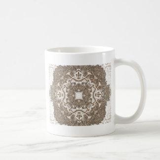 Viejo fractal 15 del cordón taza de café