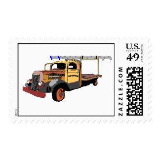 Viejo franqueo del camión sellos postales