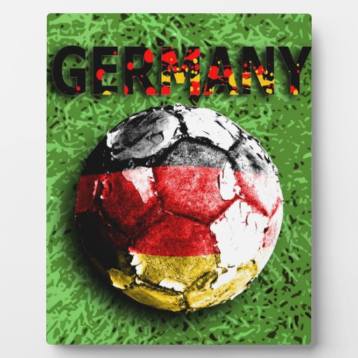 Viejo fútbol (Alemania) Placa De Madera