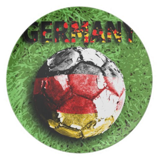 Viejo fútbol (Alemania) Plato Para Fiesta