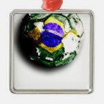 Viejo fútbol (el Brasil) Ornamento Para Reyes Magos