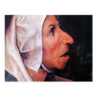 Viejo granjero de Pieter Bruegel Tarjetas Postales