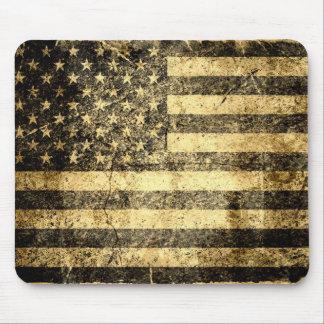 Viejo Grunge 2 de la bandera americana Tapete De Raton