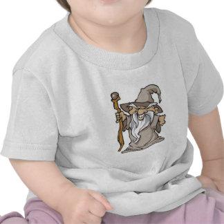 viejo hechicero gris del mago camiseta